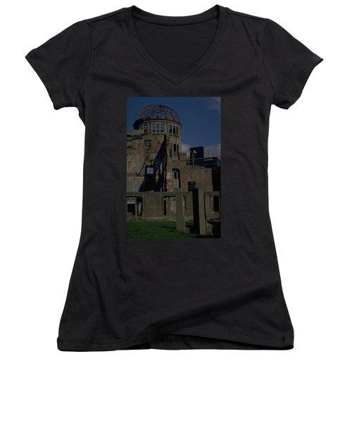 Hiroshima Peace Memorial Women's V-Neck T-Shirt