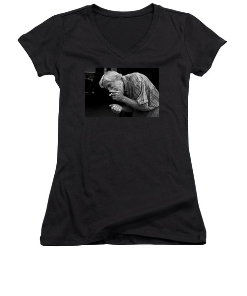 His Name Is Bow Women's V-Neck T-Shirt