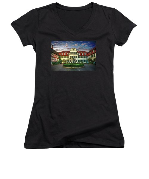 Historic Jestadt Castle Women's V-Neck