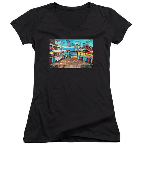 Historic Market Square Women's V-Neck
