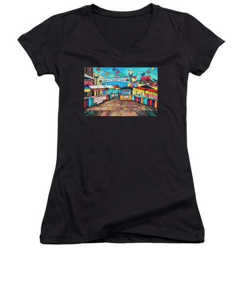 Historic Market Square Women's V-Neck (Athletic Fit)
