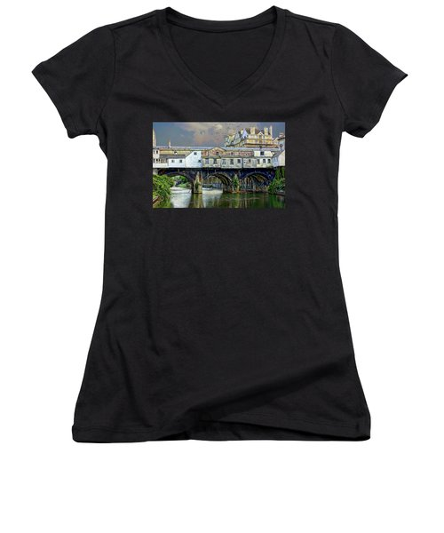 Historic Pulteney Bridge Women's V-Neck