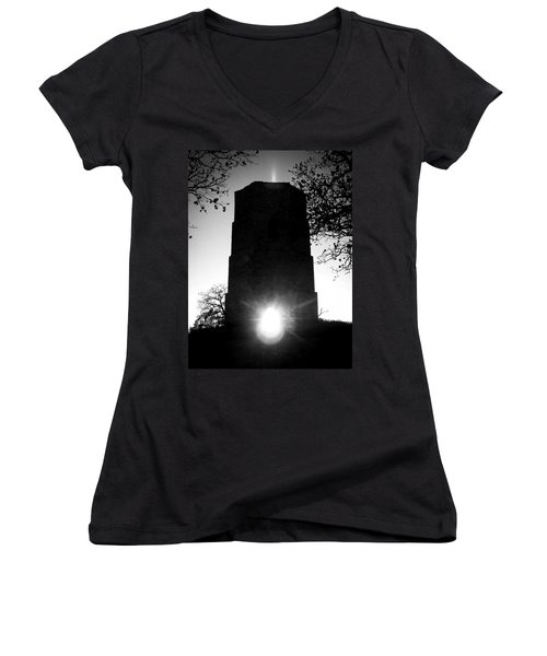 Historical Water Tower At Sunset Women's V-Neck