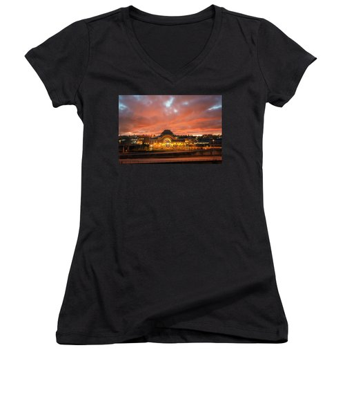 History On Fire Women's V-Neck (Athletic Fit)