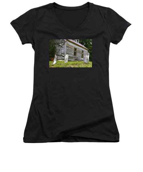 Hocking Hills Church Women's V-Neck (Athletic Fit)