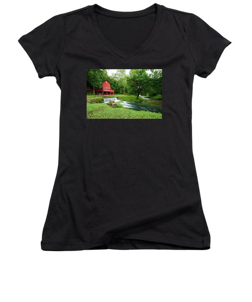Hodgson Water Mill And Spring Women's V-Neck