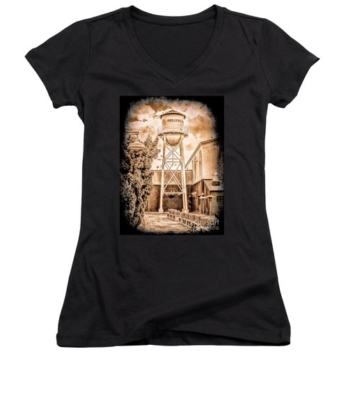Hollywood Water Tower Women's V-Neck
