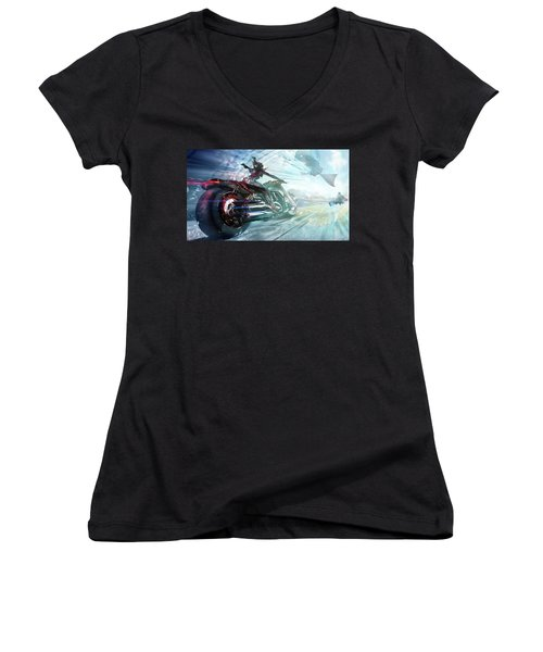 Holy Crap That Is Fast. Women's V-Neck