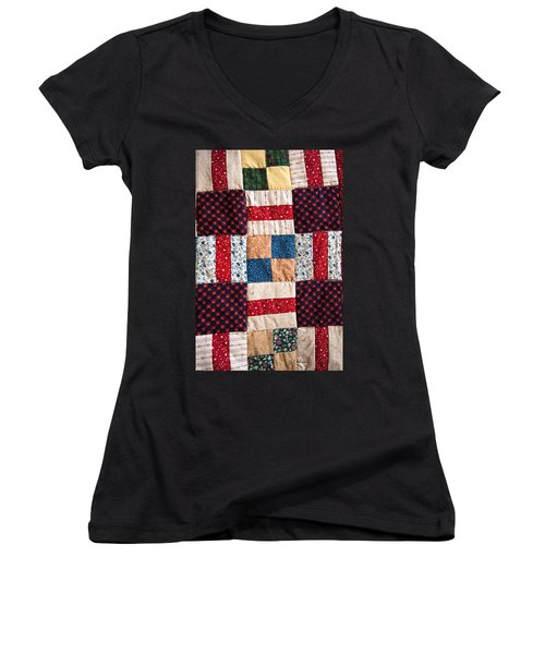 Homemade Quilt Women's V-Neck