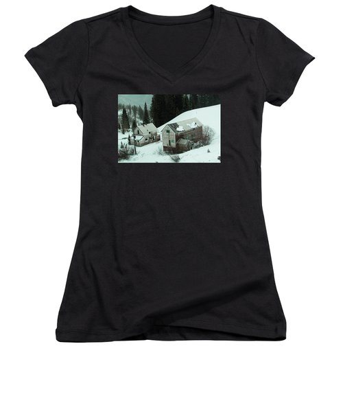 Homes In The Valley Women's V-Neck (Athletic Fit)