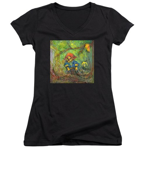 Honey Bear Women's V-Neck T-Shirt