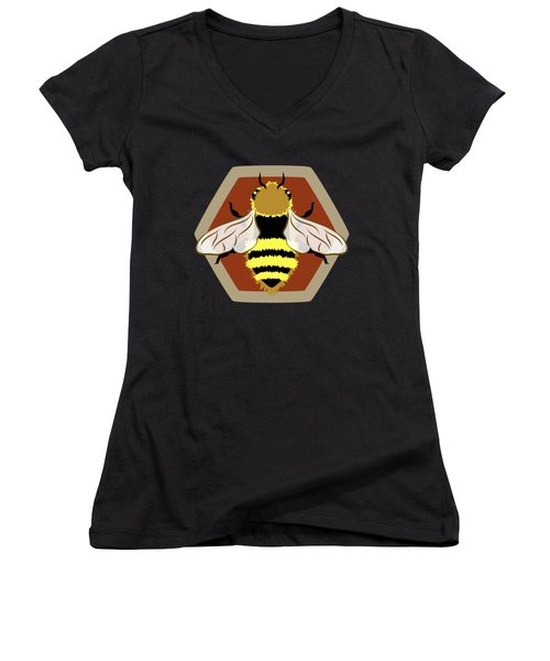 Honey Bee Graphic Women's V-Neck