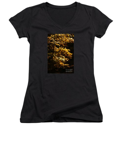 Hope Leaves Women's V-Neck T-Shirt (Junior Cut) by Linda Shafer
