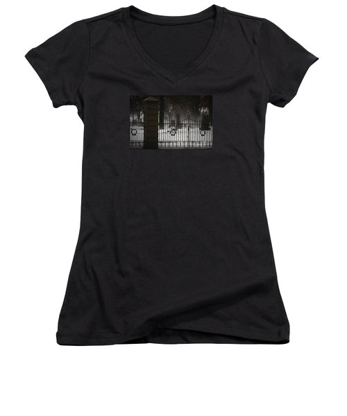 Hopeful Expectation Women's V-Neck T-Shirt (Junior Cut) by Linda Shafer