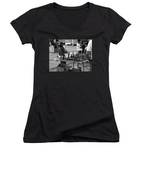 Women's V-Neck T-Shirt (Junior Cut) featuring the photograph Hopes by Beto Machado