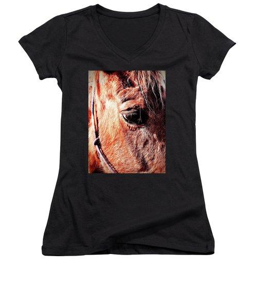 Horse  Women's V-Neck T-Shirt