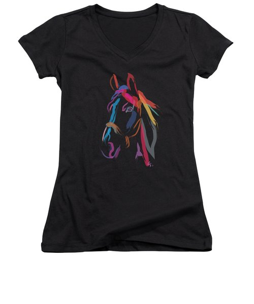 Horse-colour Me Beautiful Women's V-Neck