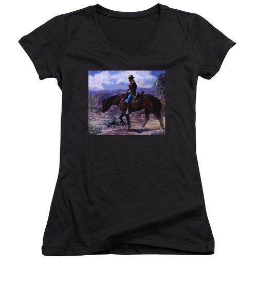Horse Trainer Women's V-Neck (Athletic Fit)
