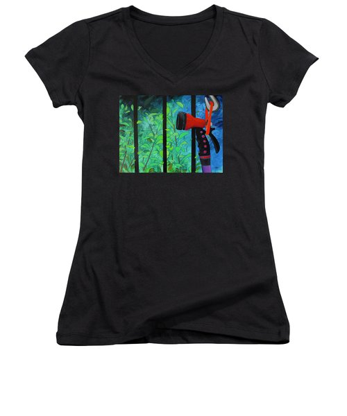 Hosed Women's V-Neck (Athletic Fit)