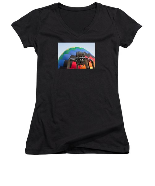 Hot Air Balloning Women's V-Neck