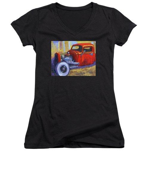 Hot Rod Chevy Truck Women's V-Neck