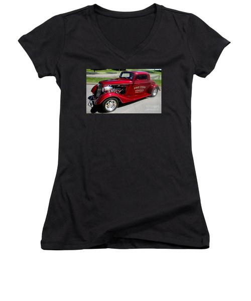 Hot Rod Chief Women's V-Neck T-Shirt