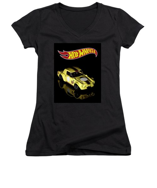 Hot Wheels Datsun Fairlady 2000 Women's V-Neck
