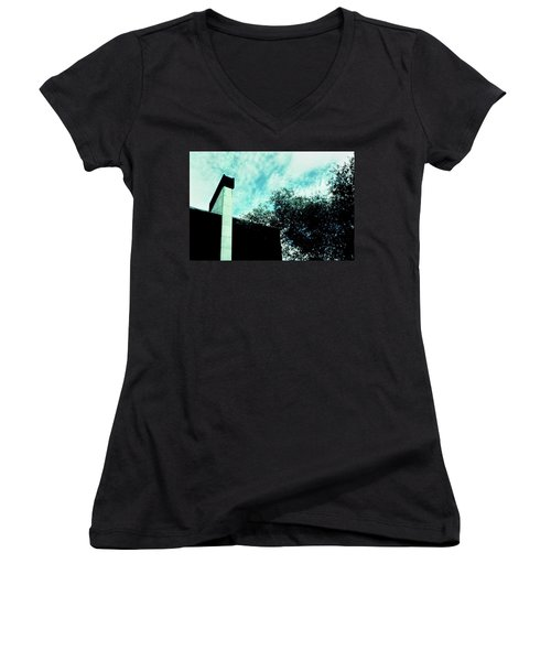 House And Sky Women's V-Neck (Athletic Fit)
