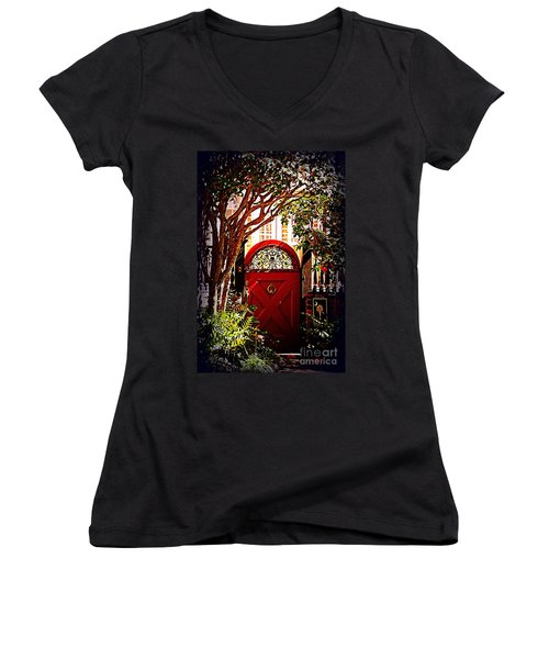 House Door 5 In Charleston Sc  Women's V-Neck