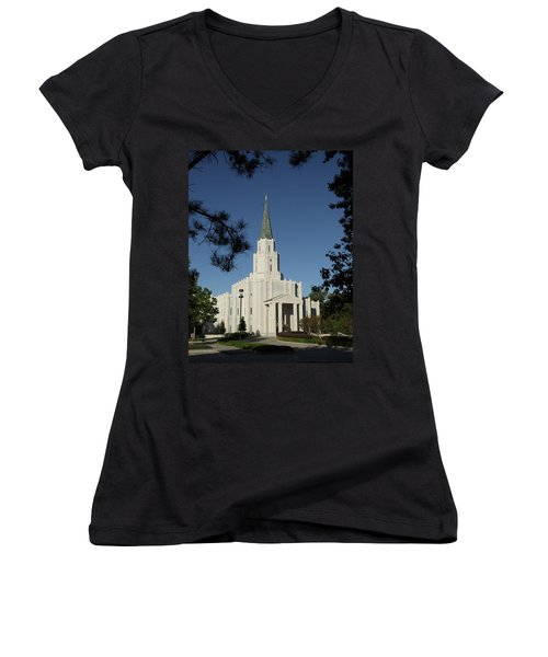 Houston Lds Temple Women's V-Neck