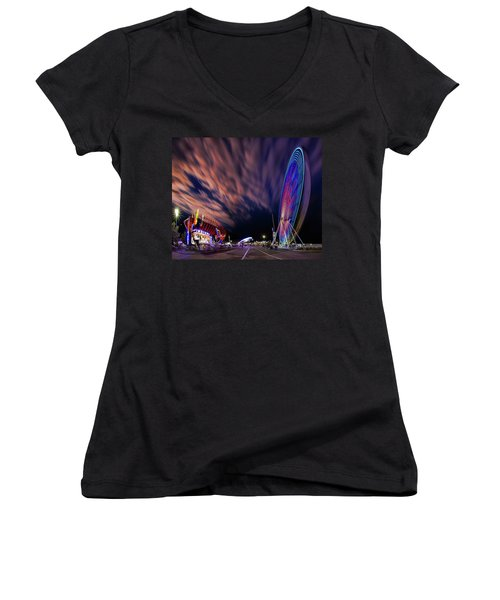 Houston Texas Live Stock Show And Rodeo #5 Women's V-Neck T-Shirt (Junior Cut) by Micah Goff