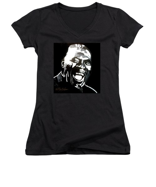 howlin Wolf Women's V-Neck (Athletic Fit)
