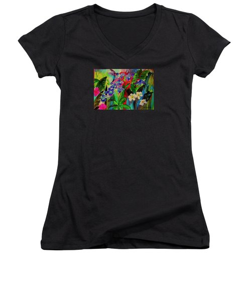 Hummer  Maddness Women's V-Neck T-Shirt