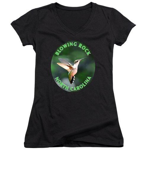 Hummingbird T-shirt Women's V-Neck (Athletic Fit)
