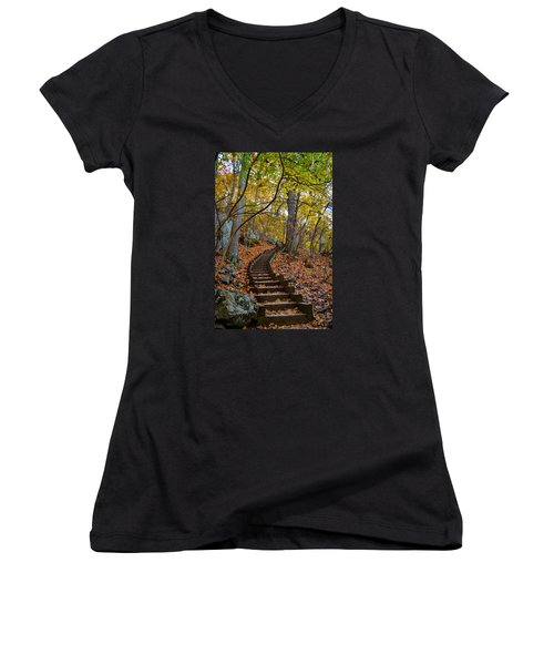 Humpback Rock Trail Women's V-Neck (Athletic Fit)