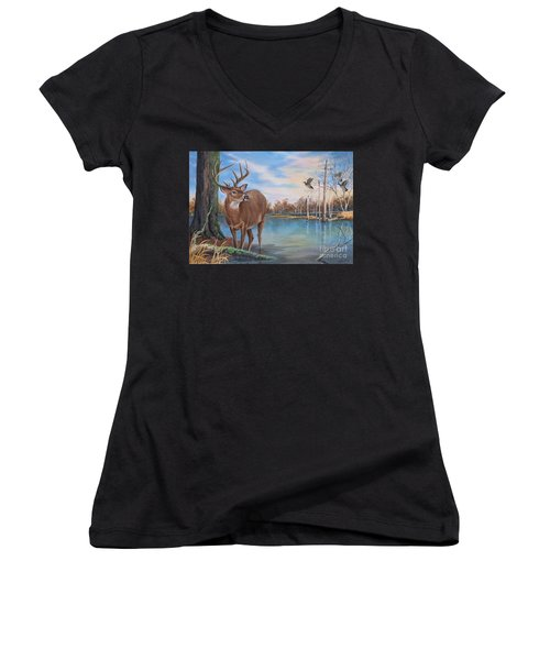 Hunters Dream Sold Women's V-Neck (Athletic Fit)