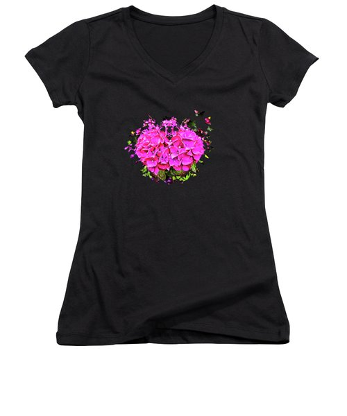 For The Love Of Hydrangeas Women's V-Neck T-Shirt (Junior Cut) by Thom Zehrfeld