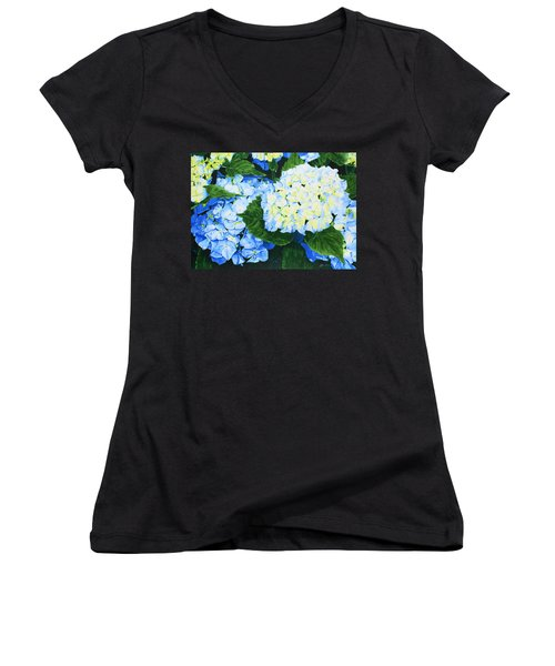 Hydrangeas Women's V-Neck T-Shirt