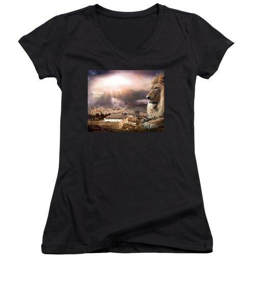 I Am Women's V-Neck T-Shirt (Junior Cut) by Bill Stephens