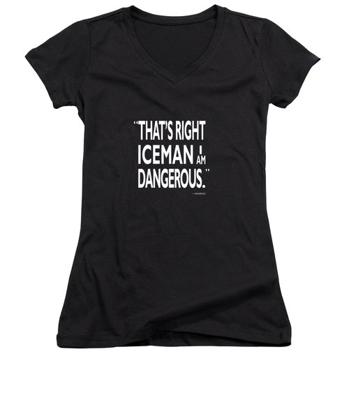 I Am Dangerous Women's V-Neck (Athletic Fit)