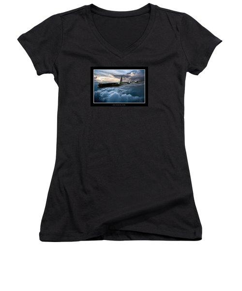 I Am Legend B-52 V2 Women's V-Neck T-Shirt (Junior Cut) by Peter Chilelli