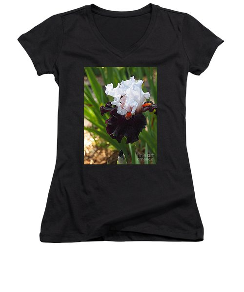 Women's V-Neck T-Shirt (Junior Cut) featuring the photograph I Am Special by Nancy Kane Chapman