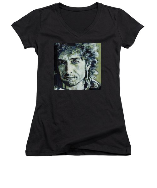 I Could Hold You For A Million Years. Bob Dylan Women's V-Neck