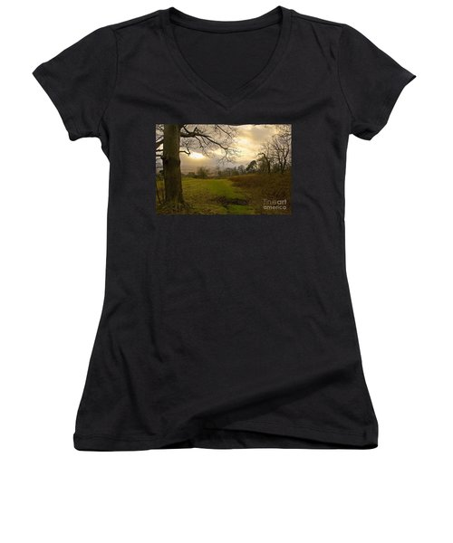 I Follow The Sunset. Women's V-Neck (Athletic Fit)