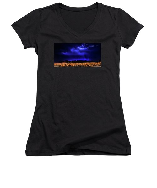 Women's V-Neck T-Shirt (Junior Cut) featuring the photograph I Got You Babe by Michael Rogers