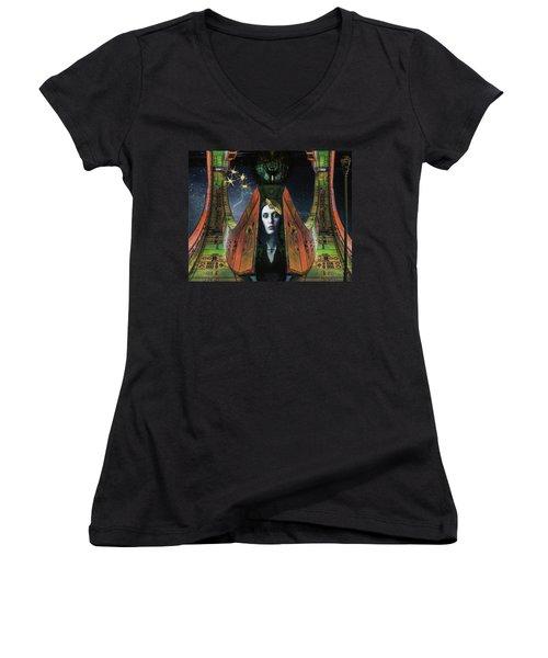 I Live Beyond Here Women's V-Neck T-Shirt