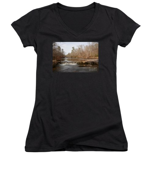 I Love To Go A Wanderin' Yellow River Park -georgia Women's V-Neck (Athletic Fit)