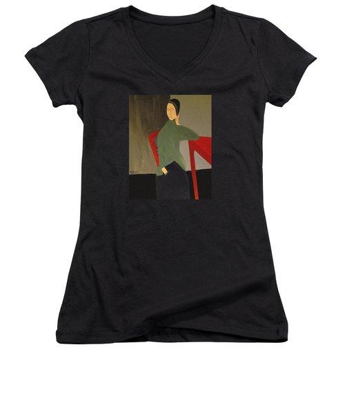 I Simply Refuse To Listen Women's V-Neck T-Shirt (Junior Cut) by Bill OConnor