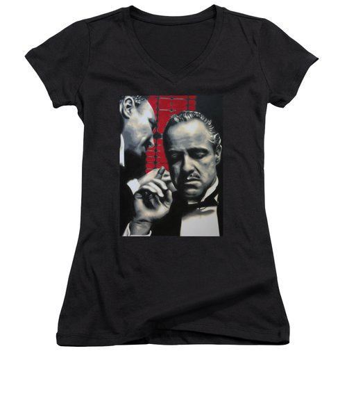I Want You To Kill Him 2013 Women's V-Neck T-Shirt (Junior Cut) by Luis Ludzska