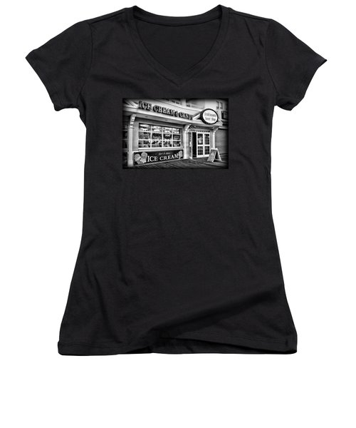 Ice Cream And Candy Shop At The Boardwalk - Jersey Shore Women's V-Neck (Athletic Fit)